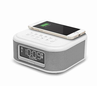 iHome iBTW23 Alarm Clock Bluetooth Stereo Lightning iPhone Qi Wireless Charging
