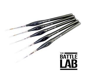Kolinsky Sable Paint Brushes Set of 5 Art ,Model Making,Warhammer,Miniatures