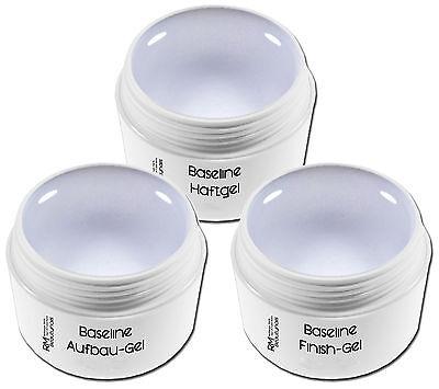 3x 15ml UV Gel Spar Set Haftgel Aufbaugel Glanzgel Nageldesign Nails #00369