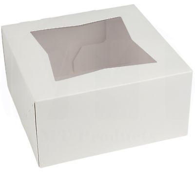 6 Length X 6 Width X 3 Height White Pie Bakery Boxpack Of 15