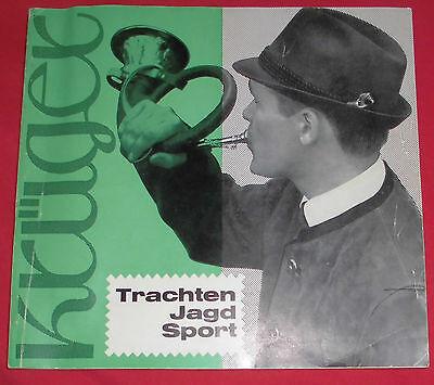 dachbodenfund katalog alt 1966 / 70 krüger mode trachten jagd sport 120s top rar