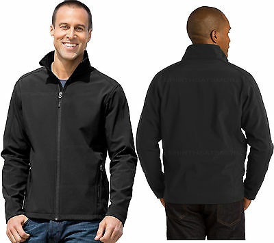 Core Authority Mens BLACK Soft Shell Jacket with Micro Fleece Lining Sizes S-2X