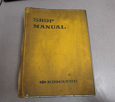 Komatsu D150a-1 D155a-1 Bulldozer Shop Service Repair Manual 1985