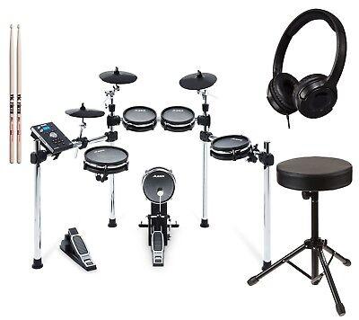 Alesis Command Mesh Kit Electronic Drum Kit with Throne, Headphones, Drum Sticks
