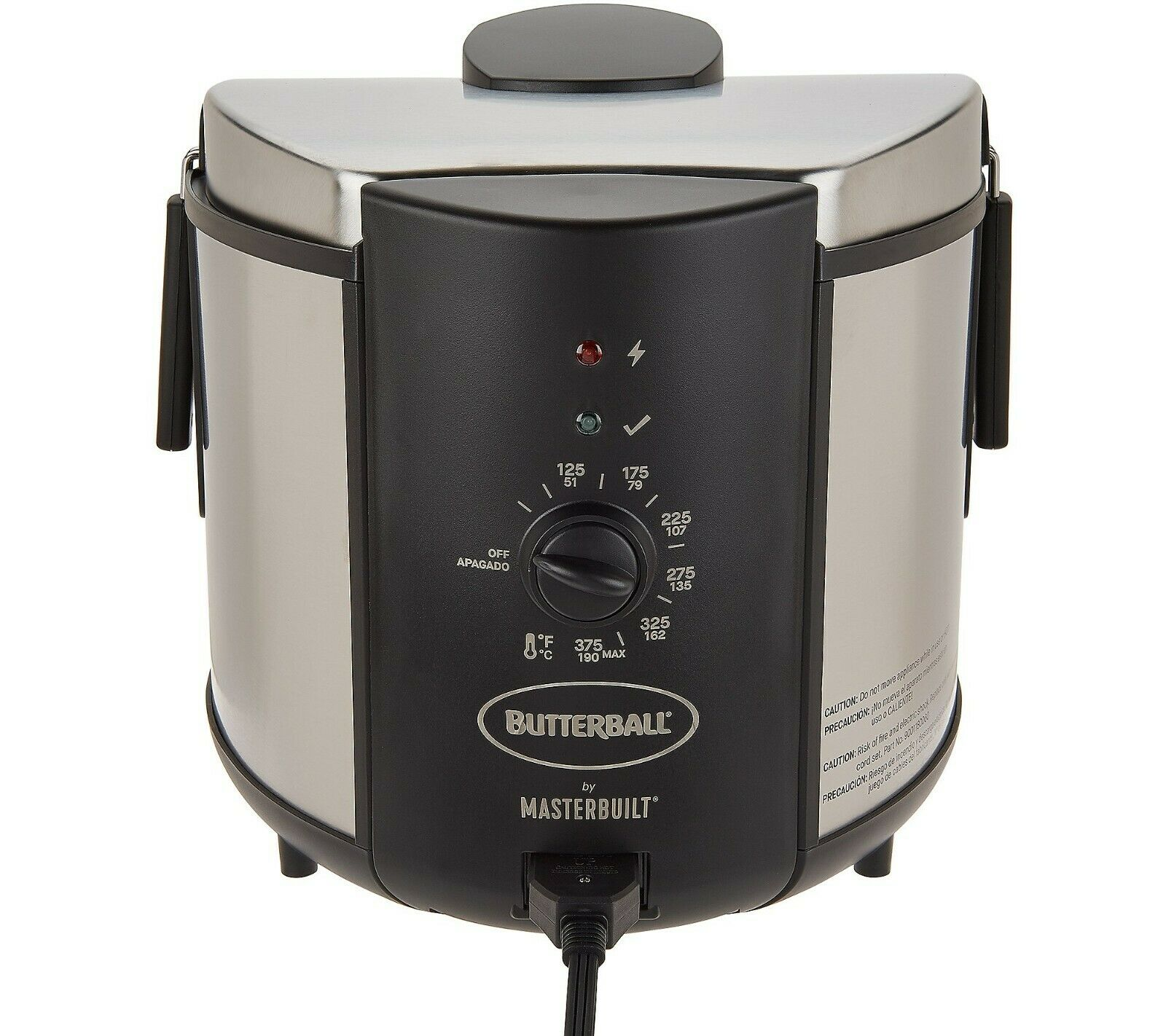 Butterball 5 Liter Stainless Steel Electric Indoor Turkey Fr
