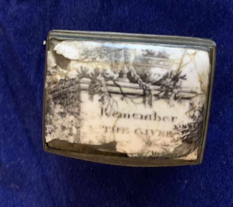 Antique Bilston Battersea Trinket/Snuff box,