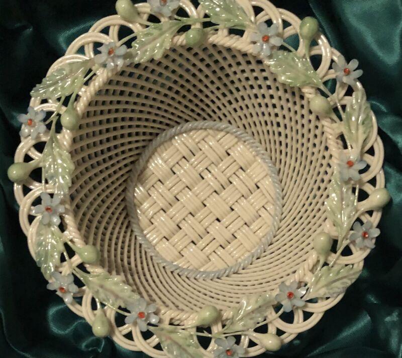 Belleek Parian China Basket
