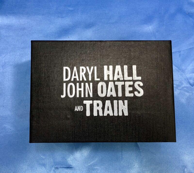 NEW in BOX 2018 Daryl HALL & John OATES and TRAIN Set of VIP Metal SHOT GLASSES