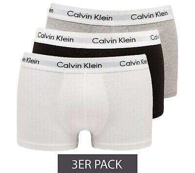 Calvin Klein Boxershorts Unterwäsche Hosen Trunks Herren sch/weiß/grau 3er Gr.S