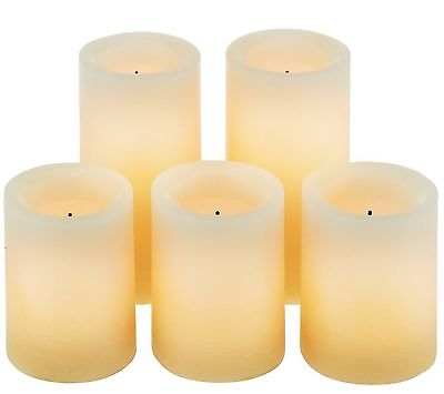 Candle Impressions Real Wax LED Flameless Candles w/Auto Tim