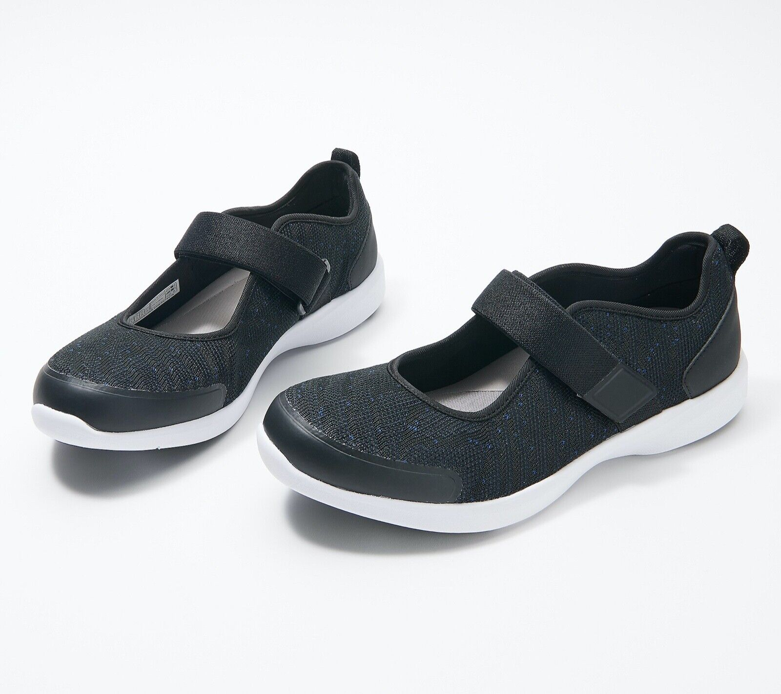 Vionic Mesh Adjustable Mary Jane Sneakers BLACK***Free Shipp