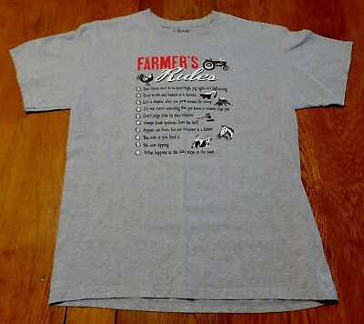 #3552-8 FARMER'S RULES Graphic T-Shirt Medium-Loose Fit or Large-Slim Fit