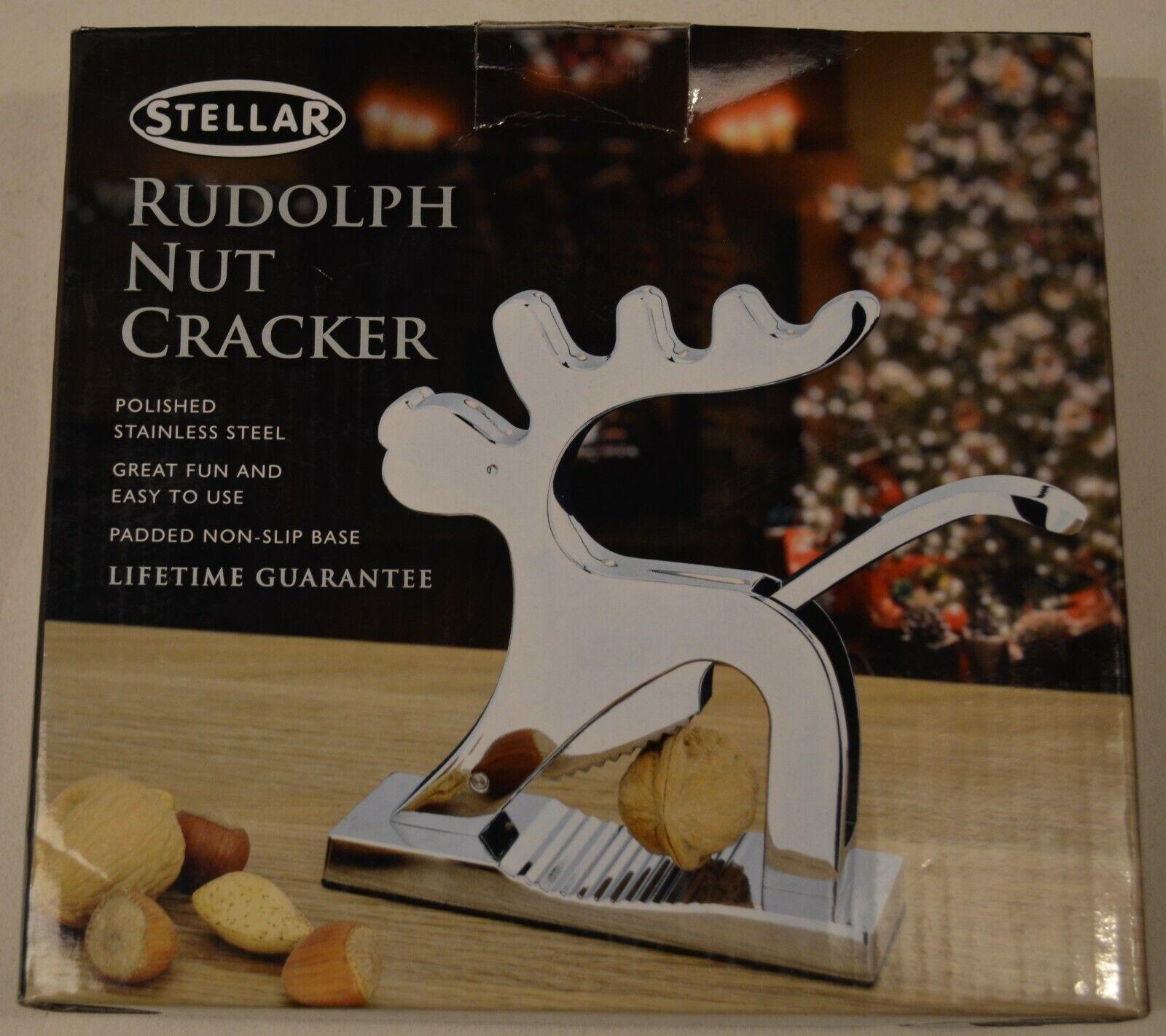 STELLAR STAINLESS STEEL RUDOLPH NUT CRACKER PP412