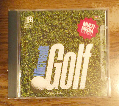 microsoft Golf windows MS-dos computer game vintage old great shape PC 1992 link - Great Old Games