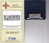 Göde Histórico Feuerwehrehrenzeichen: 15 Años Voluntario Bomberos Worms -  - ebay.es