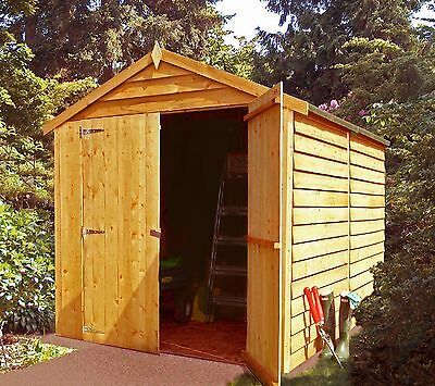 8x6 Overlap Wooden Shed Double Door