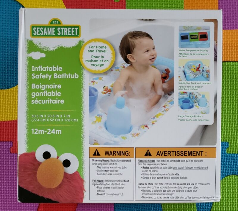 Sesame Street Inflatable Safety Bathtub