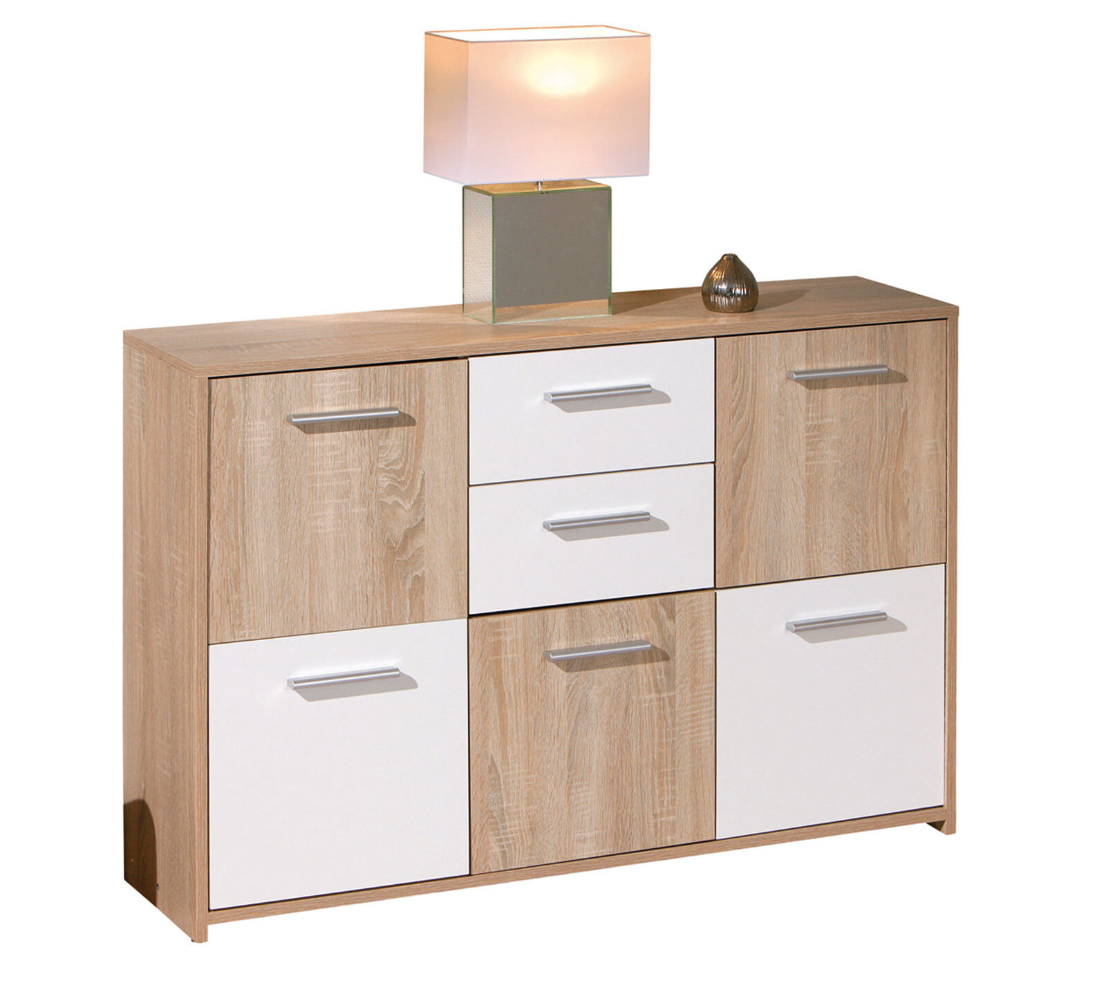 Commode buffet bahut meuble de rangement bureau cuisine for Meuble buffet salon