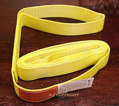 "EE1-902 x 10ft Polyester Web Lifting Sling 2"" x 10' Lifting Tow Strap eye to eye"