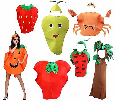 XMAS Halloween Party Fruit Vegetables Unisex Adult Costume Wear Clothing - Adult Fruit Costume