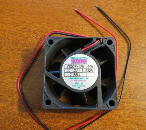 10 pcs Mechatronics Inc F6025X12B Fan, 12V AC,FHR DC12V 0.330A NEW!!