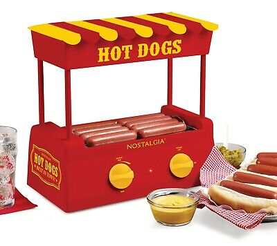Hot Dog Steamer Roller Warmer Machine Electric Grill Countertop Home Commercial