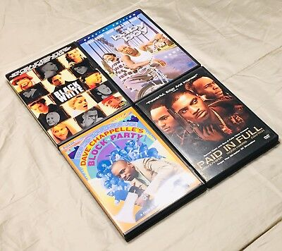DVD Lot Of Hip Hop Movies Baby Boy Snoop Dog Chappelle Paid In Full Black White