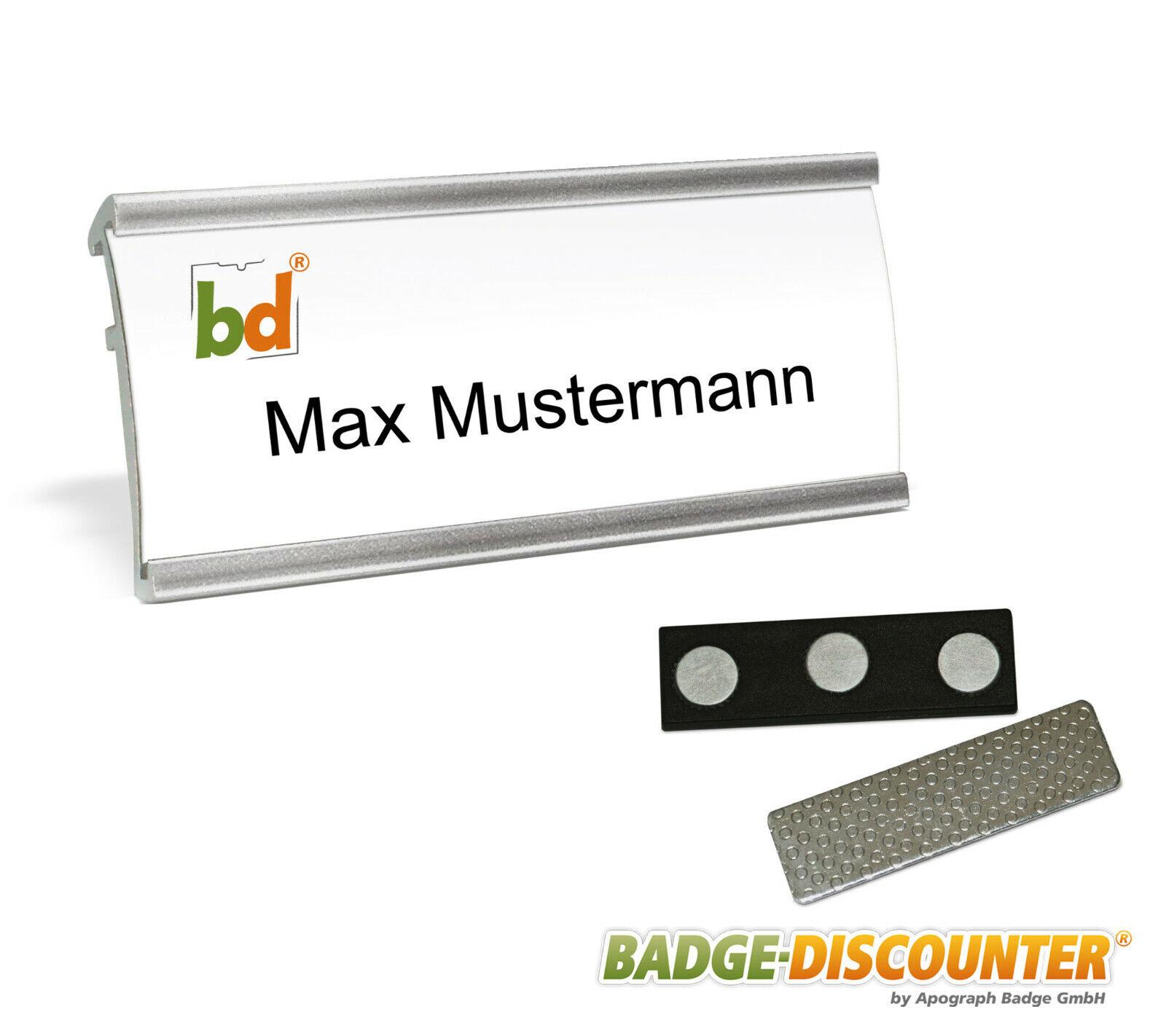 Magnet Namensschilder aus Aluminium Namensschild für Kleidung Namens Schild