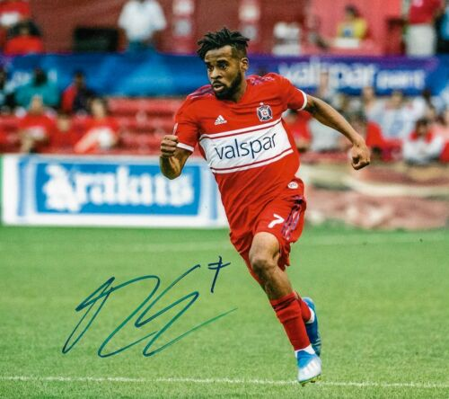 Raheem Edwards Signed MLS 8x10 COA Autograph Chicago Fire Soccer