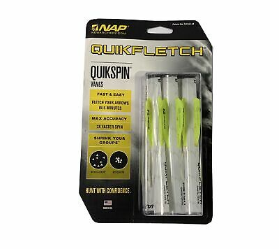 NAP QuikFletch QuikSpin Shrink Tubes Vanes White-Yellow-Yellow 6 pack 60-633