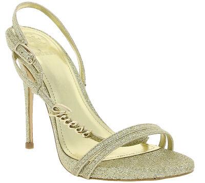 GUESS Schuhe Pumps schicke Damen Absatz-Sandaletten in Glitter-Optik - Glitter Gold Schuhe