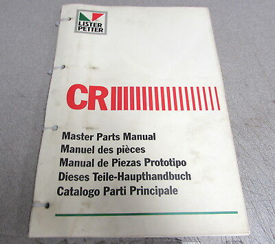 Lister Petter Cr Series Engine Master Parts Catalog Manual 1993