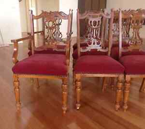 6 Antique Dining chairs Mordialloc Kingston Area Preview