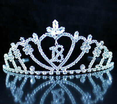 Eighteen Years Old 18 18th Birthday Party Rhinestone Tiara Crown Hair Combs T18](18th Birthday Tiara)