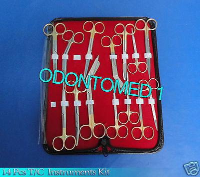 14 Tc Minor Micro Surgery Kit Set Surgical Instruments