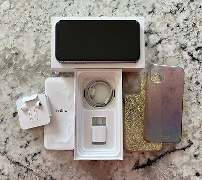 Apple iPhone 11 - 64GB Purple A2111 - CDMA GSM UMTS LTE - Unlocked - Kate Spade