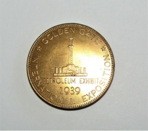 1939 GOLDEN Gate Expo Petroleum Exhibit Token HK 484