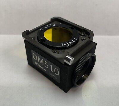 Nikon Blue B-2a Dm510 Fluorescence Filter Cube Microscope Diaphot Optiphot Ba520