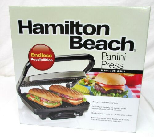 Hamilton Beach Electric Grill Stainless Steel 25410