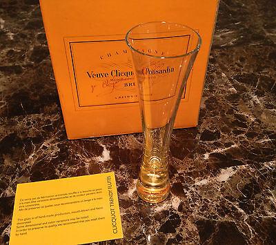 VEUVE CLICQUOT PONSARDIN CHAMPAGNE TRENDY FLUTES GLASS BOX OF 6 VERY RARE