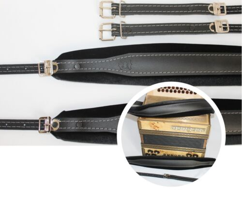 Accordion shoulder straps for all types, genuine leather,high quality,adjustable