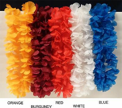 Hawaiian Leis Jumbo Silk Flower Lei Beach Tropical Wedding Party Favor Hula 7-3b - Jumbo Party