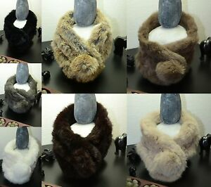 Tour-de-cou-Snood-Col-Echarpe-Fourrure-Lapin-elevage-Rabbit-Fur-Collar-Bo-amp-Co