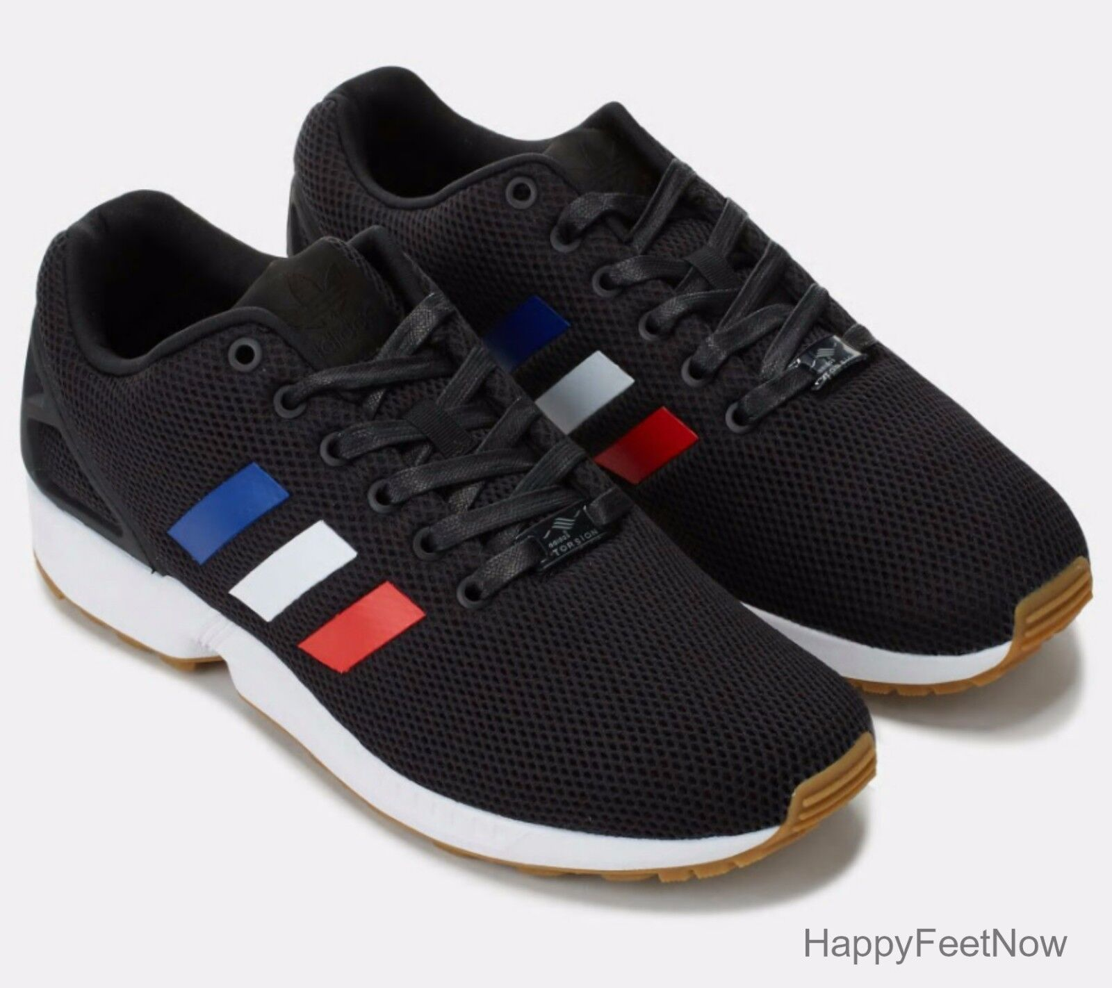 factory authentic 0356b 0b9ea ADIDAS ORIGINALS ZX FLUX RUNNING SHOES MEN'S SIZE US 10 BLACK TRICOLOR  BB2767