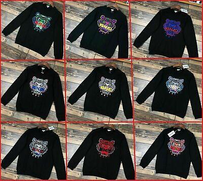 Men's Women's Kenzo Paris Sweatshirts Tiger Embroidered Crew Jumpers 9 Color