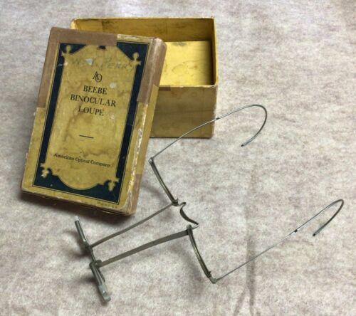 Vintage Beebe Binocular Loupe Jeweler Watchmaker Surgical Old Magnifier Glasses