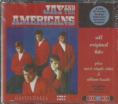 Jay And The Americans Cd   Masterworks   3 Cd Collection  Brand New