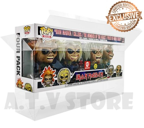 Vinyl Box Case Protector for Funko Pop Iron Maiden 4 Pack