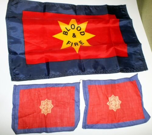 Salvation Army Flag Hankerchiefs BLOOD and FIRE Original Tablecloth
