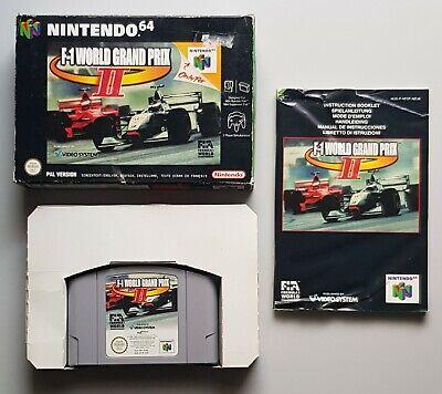 F 1 World Grand Prix II 2 für das N64 mit Verpackung und Anleitung, PAL